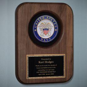 Navy Custom Plaque for Retirement