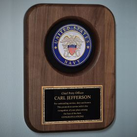 Navy Personalized Plaque for Promotion