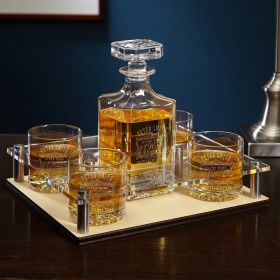 Ultra Rare Edition Personalized Whiskey Decanter Presentation Set