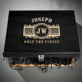 Marquee Baltic Birch Personalized Wood Box
