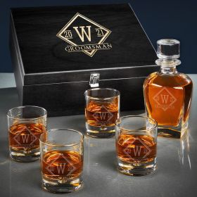 Drake Personalized Draper Bourbon Decanter Set