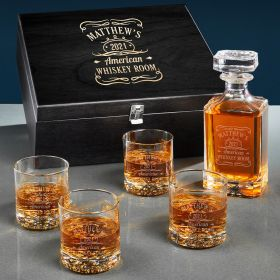 Tennessee Whiskey Personalized Carson Crystal Decanter Set
