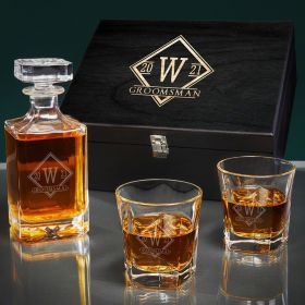 Drake Custom Carson Bourbon Decanter Set