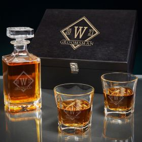 Drake Custom Carson Bourbon Decanter Set