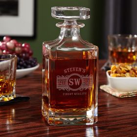 Marquee Custom Whiskey Decanter