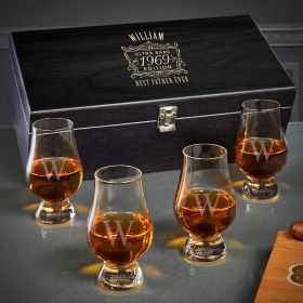 Ultra Rare Edition Engraved Glencairn Whiskey Glasses