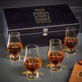 Ultra Rare Edition Engraved Glencairn Whiskey Glasses