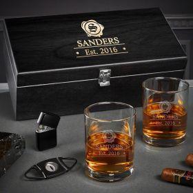 Wax Seal Custom Eastham Whiskey Gift Set