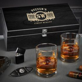 Marquee Custom Eastham Whiskey and Cigar Gifts