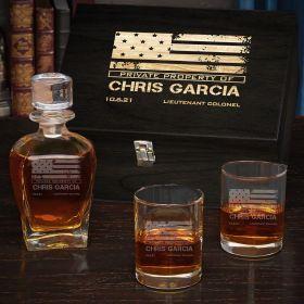 American Heroes Custom Draper Whiskey Set of Military Gifts