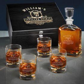 Carraway Custom Argos Whiskey Decanter Set