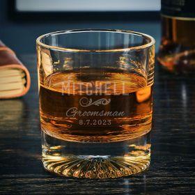 Classic Groomsman Custom Churchill Whiskey Glass Groomsman Gift