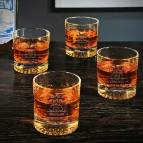 Tennessee Whiskey Engraved Churchill Whiskey Glasses