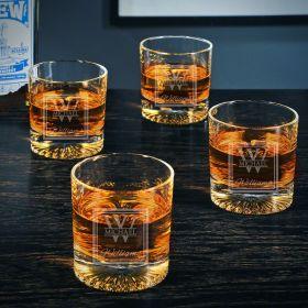Oakhill Personalized Churchill Bourbon Glasses Set of 4