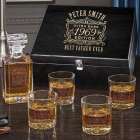 Ultra Rare Edition Custom Carson Whiskey Decanter Set
