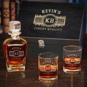 Marquee Personalized Draper Whiskey Decanter Set