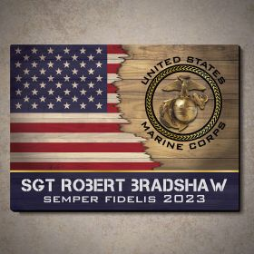First to Fight Custom US Marine Corps Gift Wood Sign