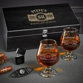 Marquee Engraved Cognac and Cigar Gifts