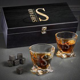 Elton Engraved Twist Whiskey Gift Set