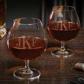 Classic Monogram Custom Grand Cognac Glasses Set