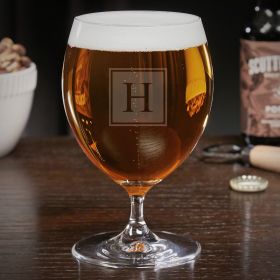 Block Monogram Personalized Grand Snifter Beer Glass