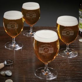 Marquee Personalized Grand Beer Tasting Glasses Set of 4