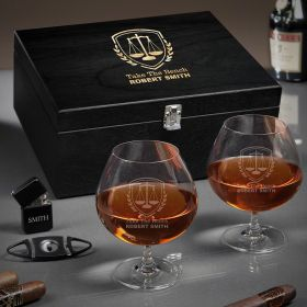 Liberty Scale Grand Cognac Set of Lawyer Gifts