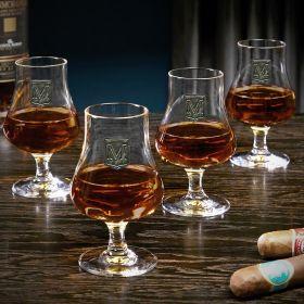 Regal Crest Custom Set of 4 Nosing Whiskey Tasting Glasses