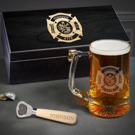 Fire & Rescue Engraved Beer Firefighter Gifts
