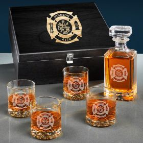 Fire & Rescue Personalized Carson Whiskey Firefighter Gifts