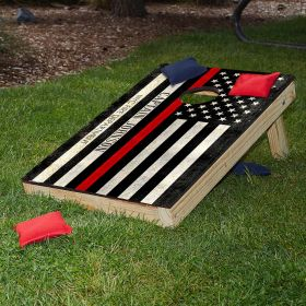 Thin Red Line Custom Cornhole Set of Firefighter Gifts