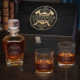 Firefighter Brotherhood Personalized Draper Whiskey Gifts for Firefighters