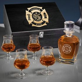 Fire & Rescue Personalized Whiskey Gifts for Firefighters