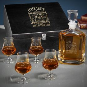 Ultra Rare Edition Personalized Argos Whiskey Gifts for Older Men