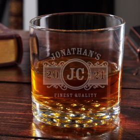 Marquee Personalized Buckman Whiskey Glass