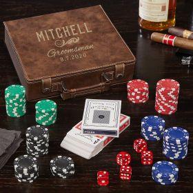 Classic Groomsman Personalized Poker Set of Groomsmen Gifts