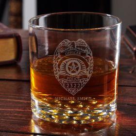 Police Badge Engraved Buckman Police Gift
