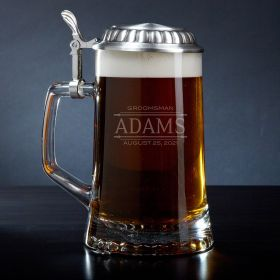 Stanford Personalized Beer Stein with Pewter Lid