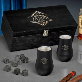Wilshire Custom Double Wall Neat Whiskey Gift Set