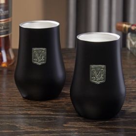 Regal Crest Custom Double Wall Whiskey Glass Set of 2