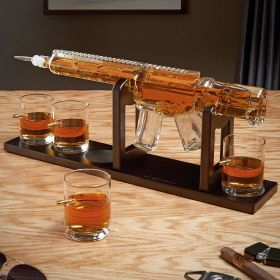 AR-15 Whiskey Decanter with Bullet Glasses