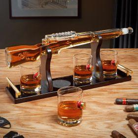 Shotgun Whiskey Decanter Set