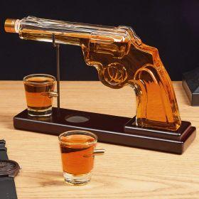 Pistol Liquor Decanter with Bullet Shot Glasses