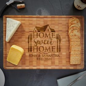 Home Sweet Home Engraved Bamboo Cutting Board