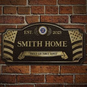 Home of the Free Custom Wood Air Force Sign