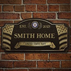 Home of the Free Custom Wood Navy Sign