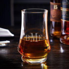 Classic Monogram Engraved Duke Kenzie Whisky Tasting Glass