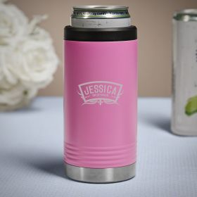 Wedding Party Engraved Slim Can Cooler Bridesmaid Gift