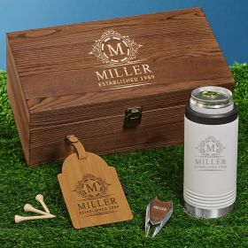 Hamilton White Slim Cooler Personalized Golf Gifts