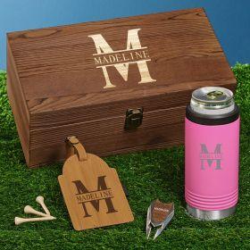 Oakmont Pink Slim Cooler Engraved Golf Gifts for Women